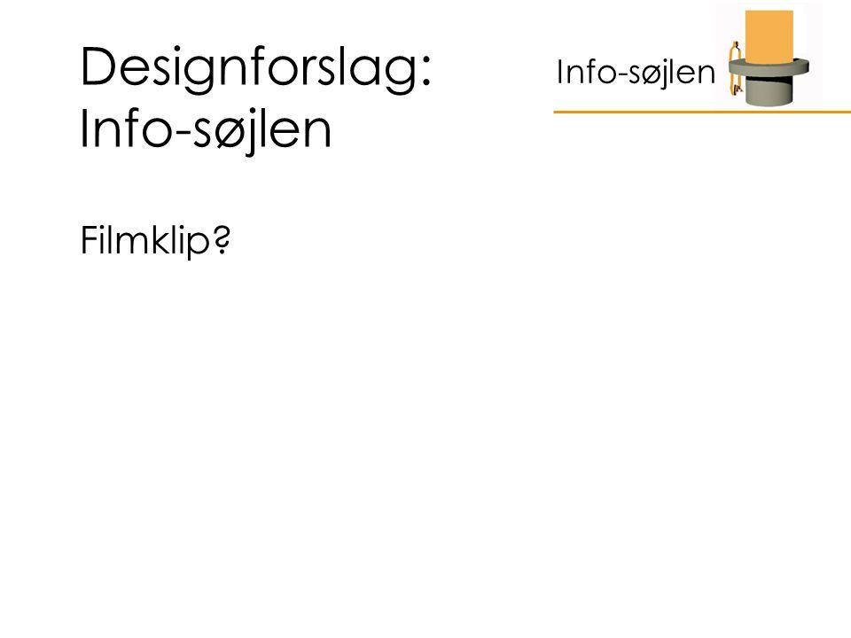 Designforslag: Info-søjlen Filmklip Info-søjlen