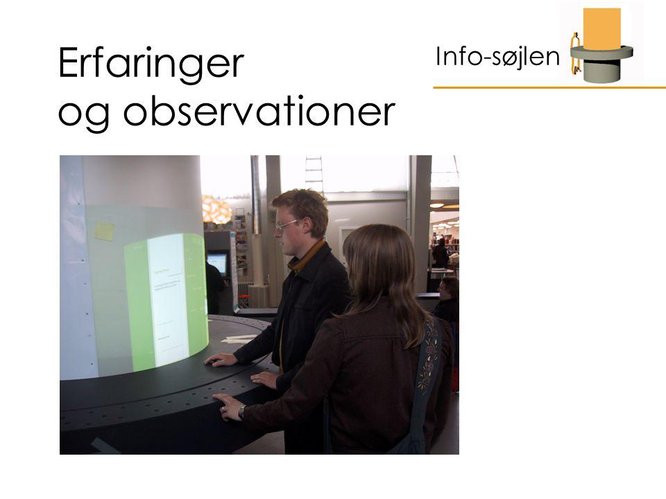 Erfaringer og observationer Info-søjlen
