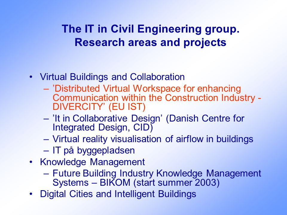 The IT in Civil Engineering group.