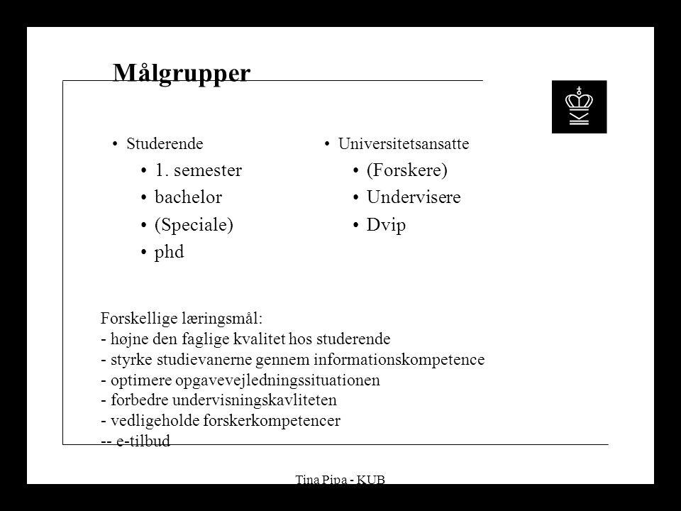 Tina Pipa - KUB Målgrupper Studerende 1.