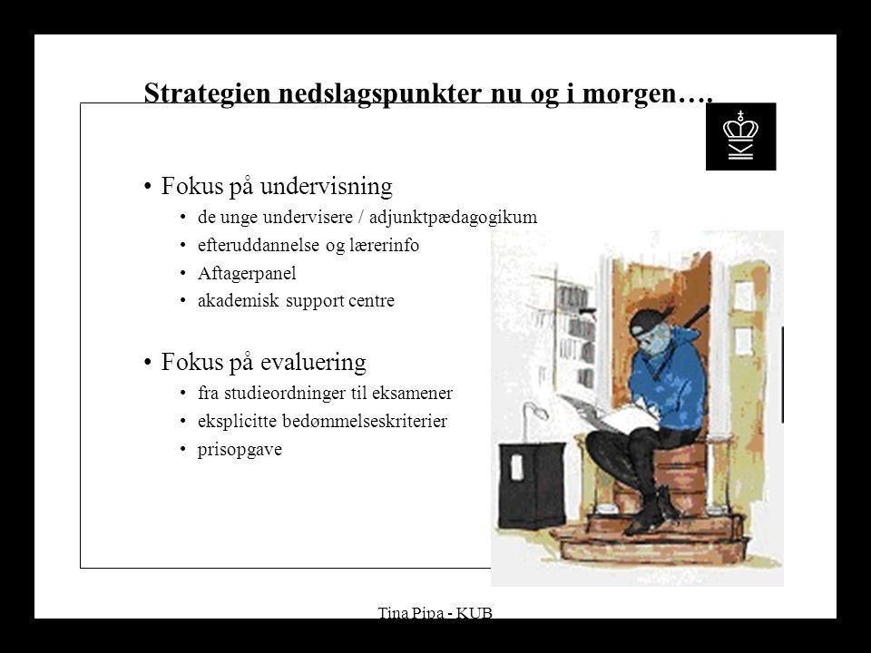 Tina Pipa - KUB Strategien nedslagspunkter nu og i morgen….