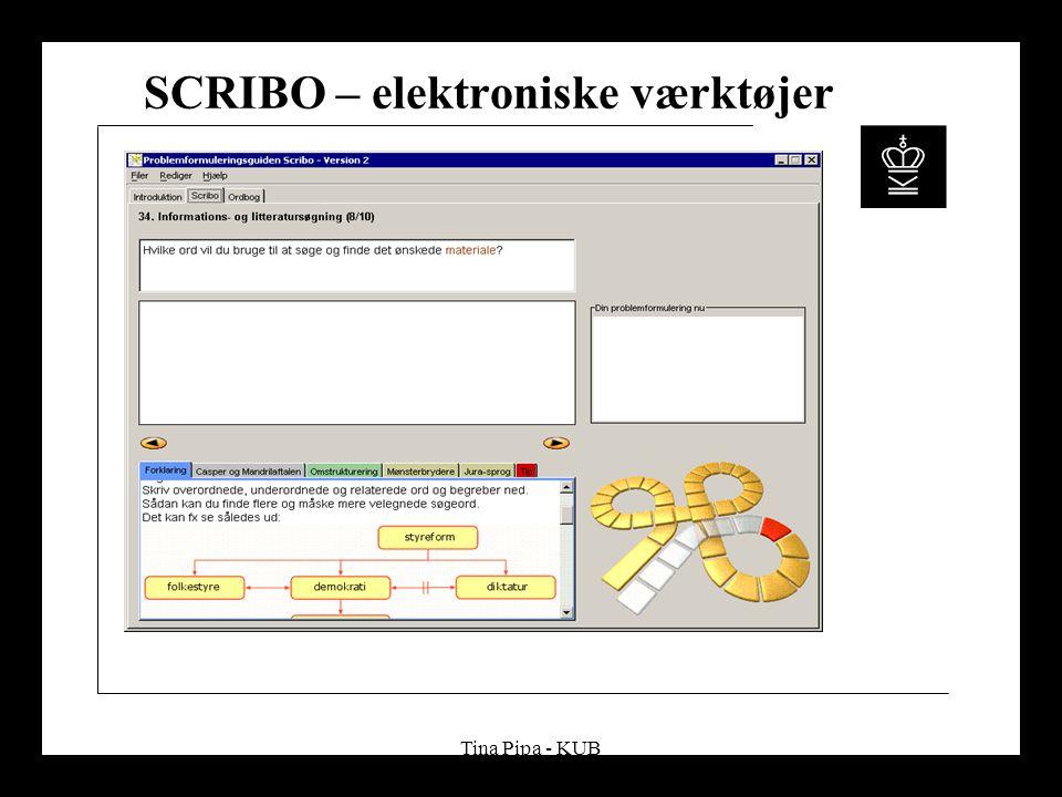 Tina Pipa - KUB SCRIBO – elektroniske værktøjer