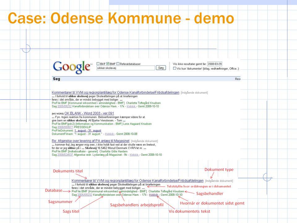Case: Odense Kommune - demo