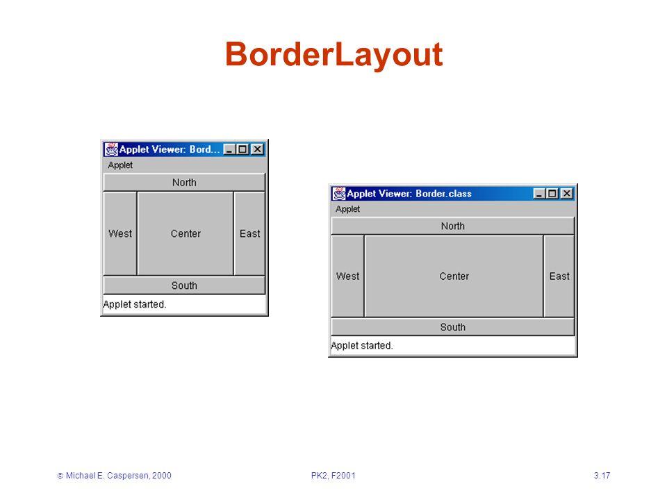  Michael E. Caspersen, 2000PK2, F20013.17 BorderLayout