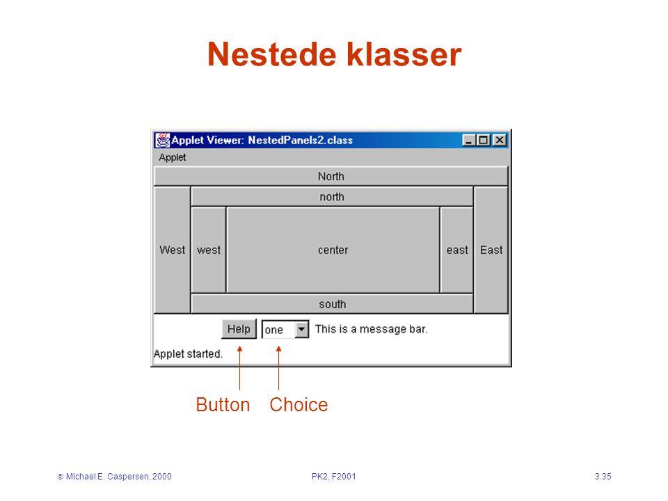  Michael E. Caspersen, 2000PK2, F20013.35 Nestede klasser ButtonChoice