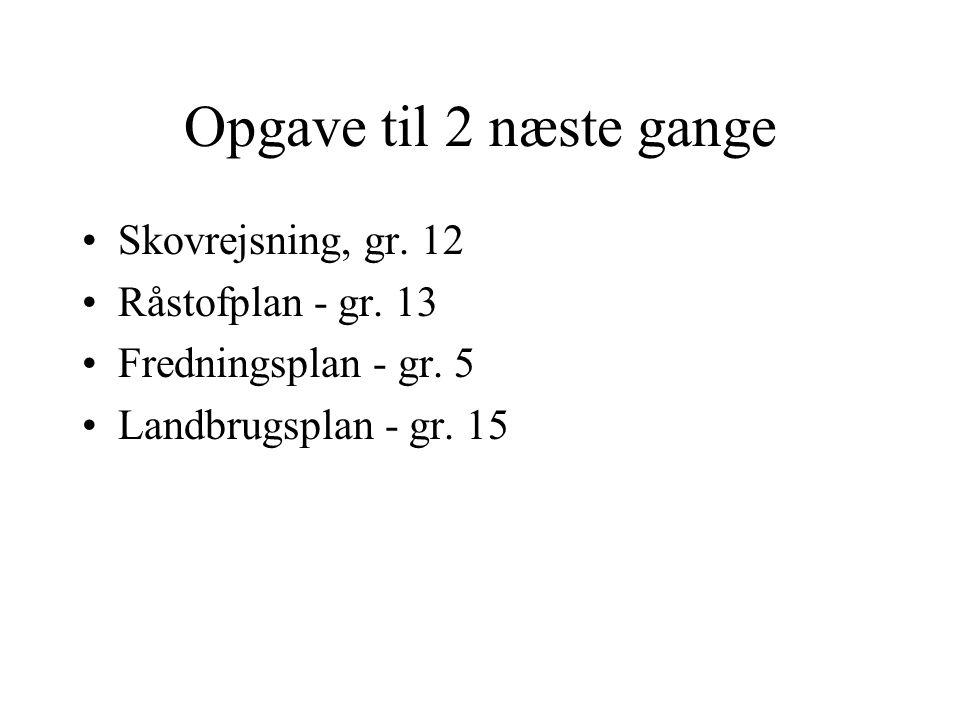 Opgave til 2 næste gange Skovrejsning, gr. 12 Råstofplan - gr.