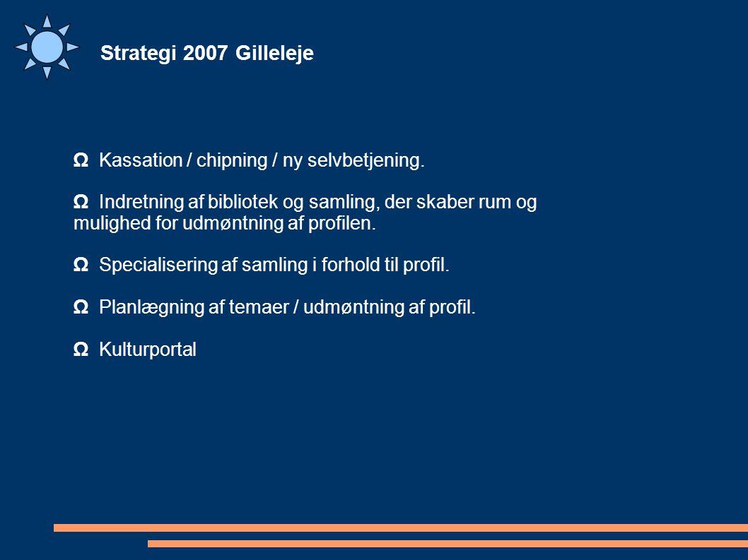 Strategi 2007 Gilleleje Ω Kassation / chipning / ny selvbetjening.