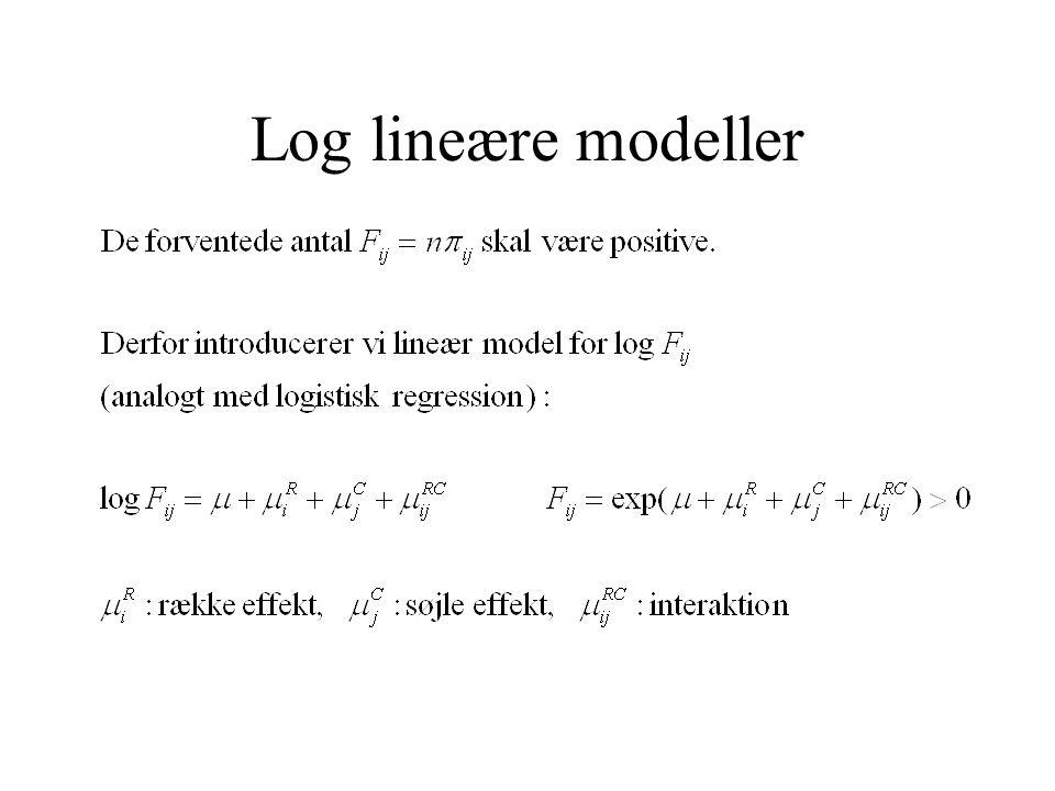 Log lineære modeller