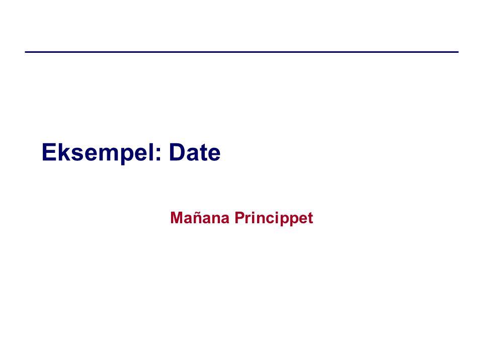 Eksempel: Date Mañana Princippet