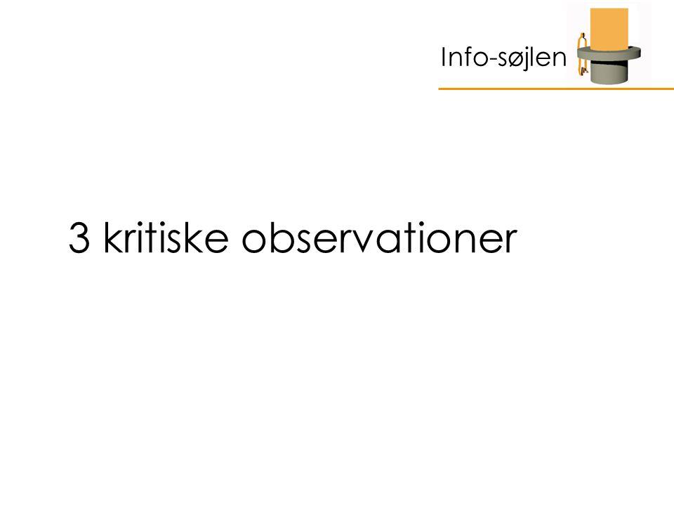 3 kritiske observationer Info-søjlen