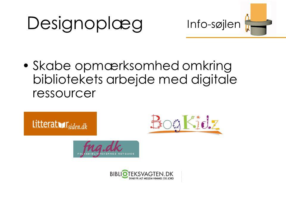 Designoplæg Skabe opmærksomhed omkring bibliotekets arbejde med digitale ressourcer Info-søjlen