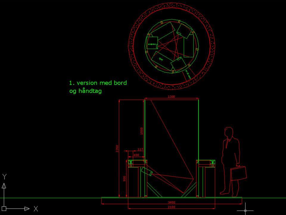 1. Version med bord og håndtag Info-søjlen