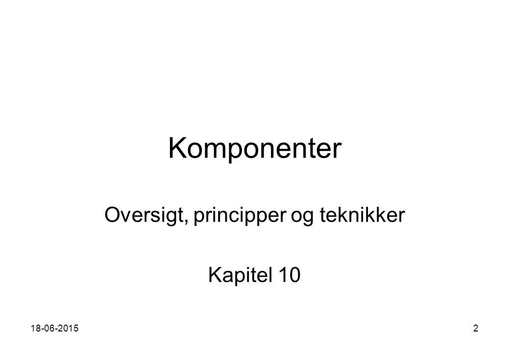 18-06-20152 Komponenter Oversigt, principper og teknikker Kapitel 10