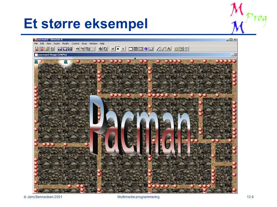  Jens Bennedsen 2001Multimedie programmering13.9 Et større eksempel
