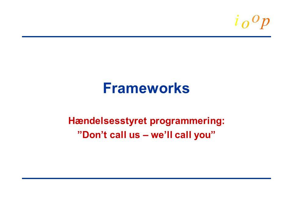 Frameworks Hændelsesstyret programmering: Don't call us – we'll call you