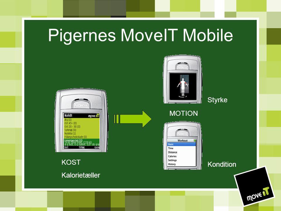 Pigernes MoveIT Mobile KOST Kalorietæller MOTION Kondition Styrke