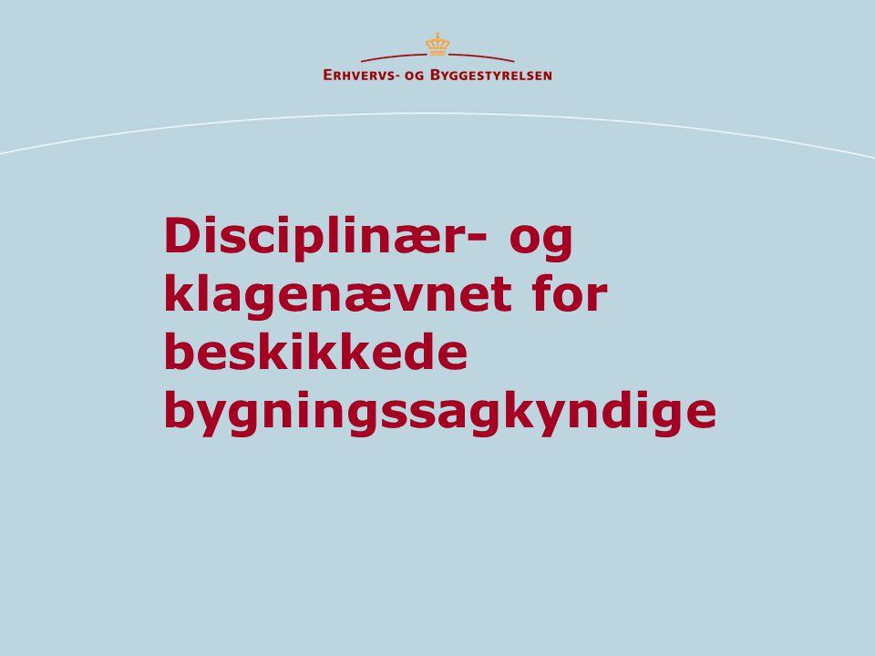 Disciplinær- og klagenævnet for beskikkede bygningssagkyndige