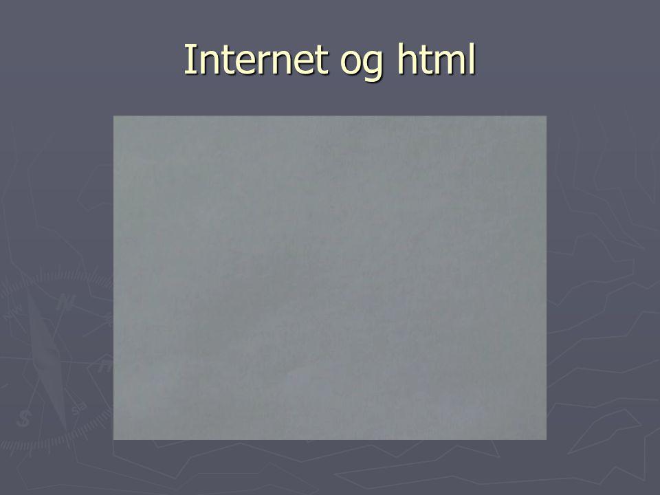 Internet og html
