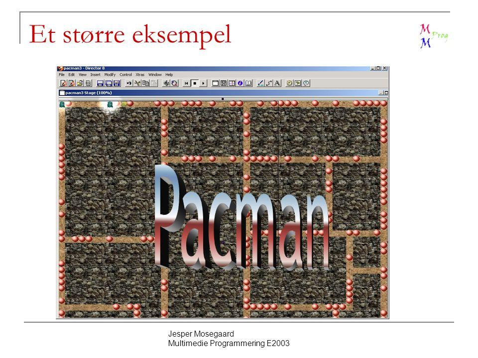 Jesper Mosegaard Multimedie Programmering E2003 Et større eksempel