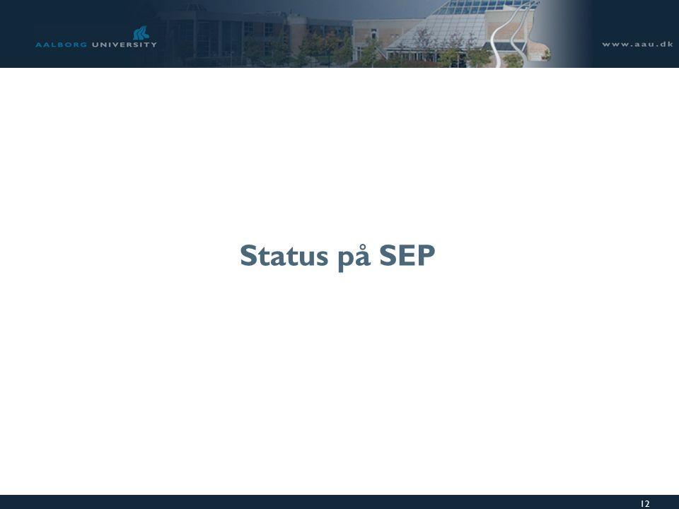 12 Status på SEP
