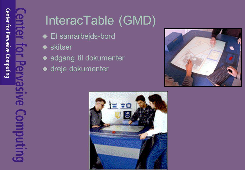 InteracTable (GMD) u Et samarbejds-bord u skitser u adgang til dokumenter u dreje dokumenter