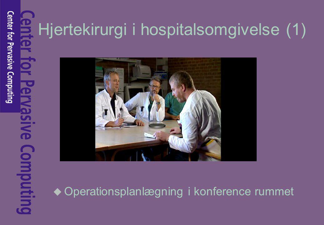 Hjertekirurgi i hospitalsomgivelse (1) u Operationsplanlægning i konference rummet
