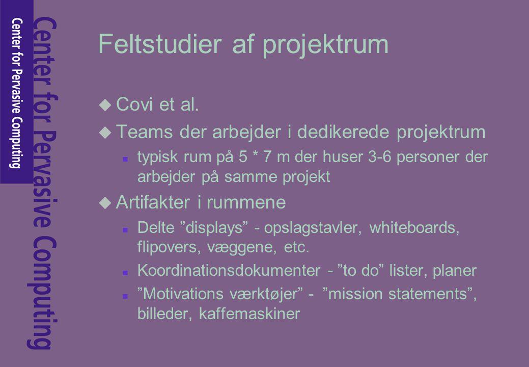 Feltstudier af projektrum u Covi et al.