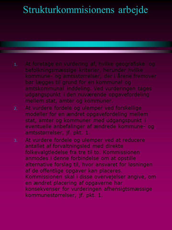 Strukturkommisionens arbejde 1.