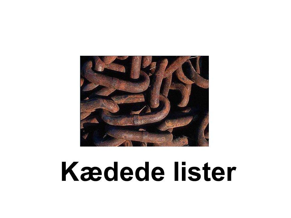 Kædede lister