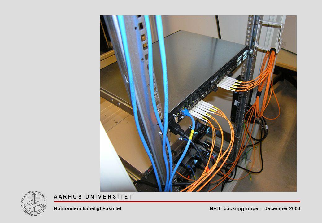NFIT- backupgruppe – december 2006 A A R H U S U N I V E R S I T E T Naturvidenskabeligt Fakultet