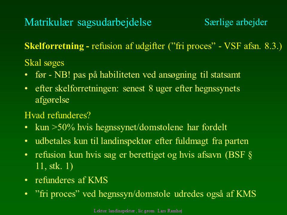 Matrikulær sagsudarbejdelse før - NB.