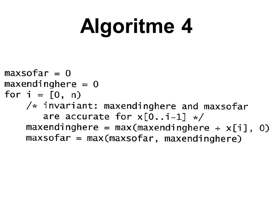 Algoritme 4