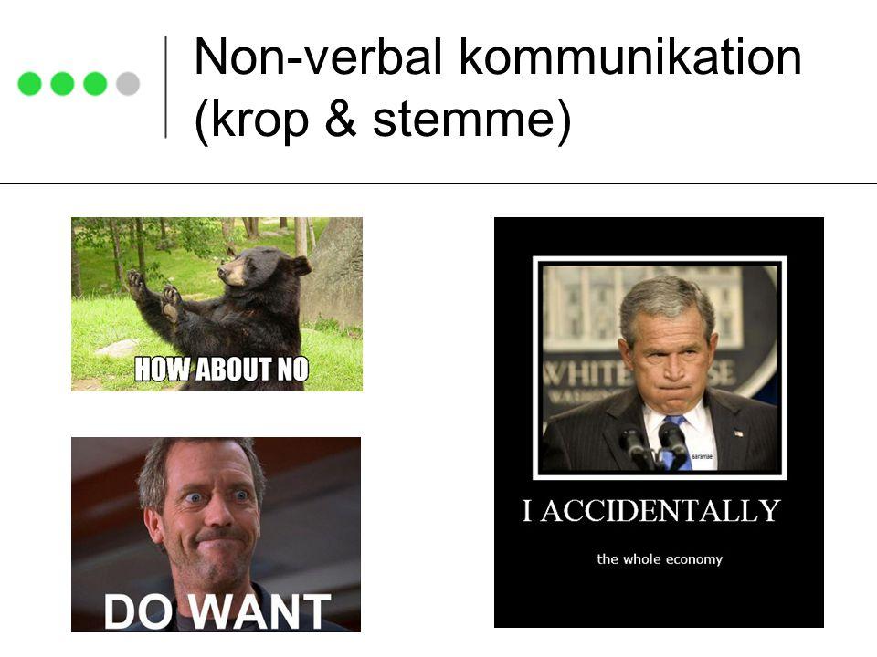 Non-verbal kommunikation (krop & stemme)