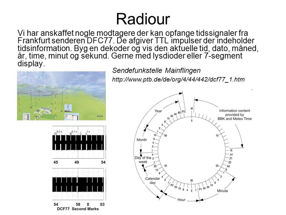 Radiour Vi har anskaffet nogle modtagere der kan opfange tidssignaler fra Frankfurt senderen DFC77.