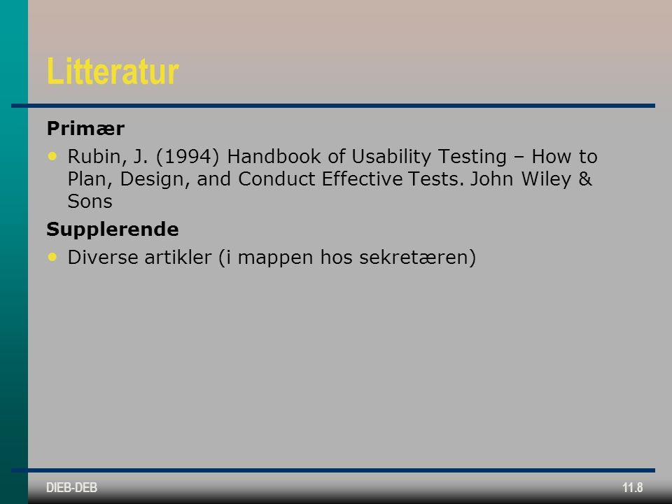 DIEB-DEB11.8 Litteratur Primær Rubin, J.