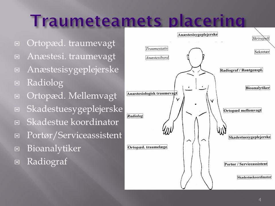 Blødning Endnu mere blødning Trykpneumothorax Hjertetamponade Neurogent (tværsnit>Th4) 15