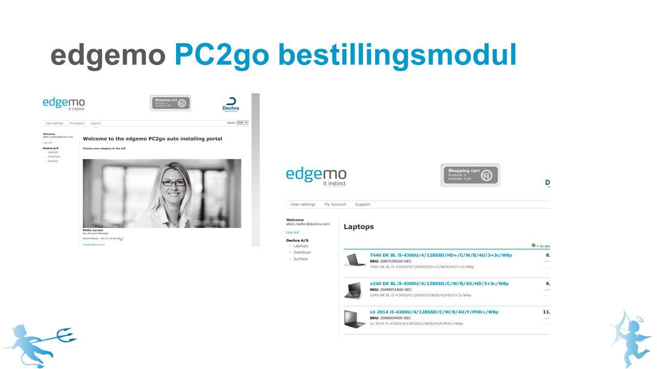edgemo PC2go bestillingsmodul