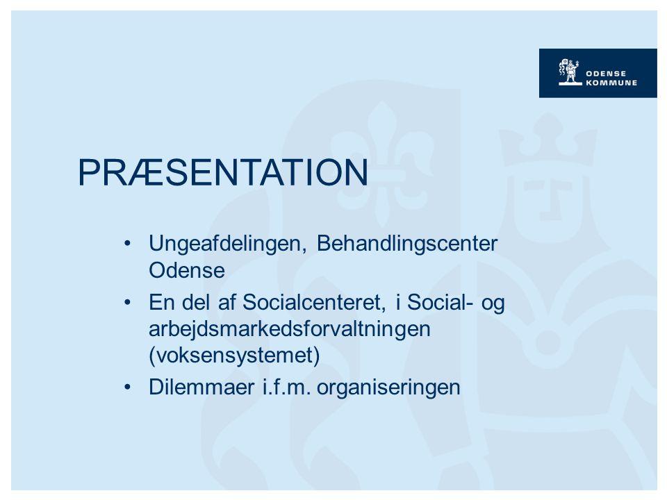 Ungeafdelingen, Behandlingscenter Odense En del af Socialcenteret, i Social- og arbejdsmarkedsforvaltningen (voksensystemet) Dilemmaer i.f.m.