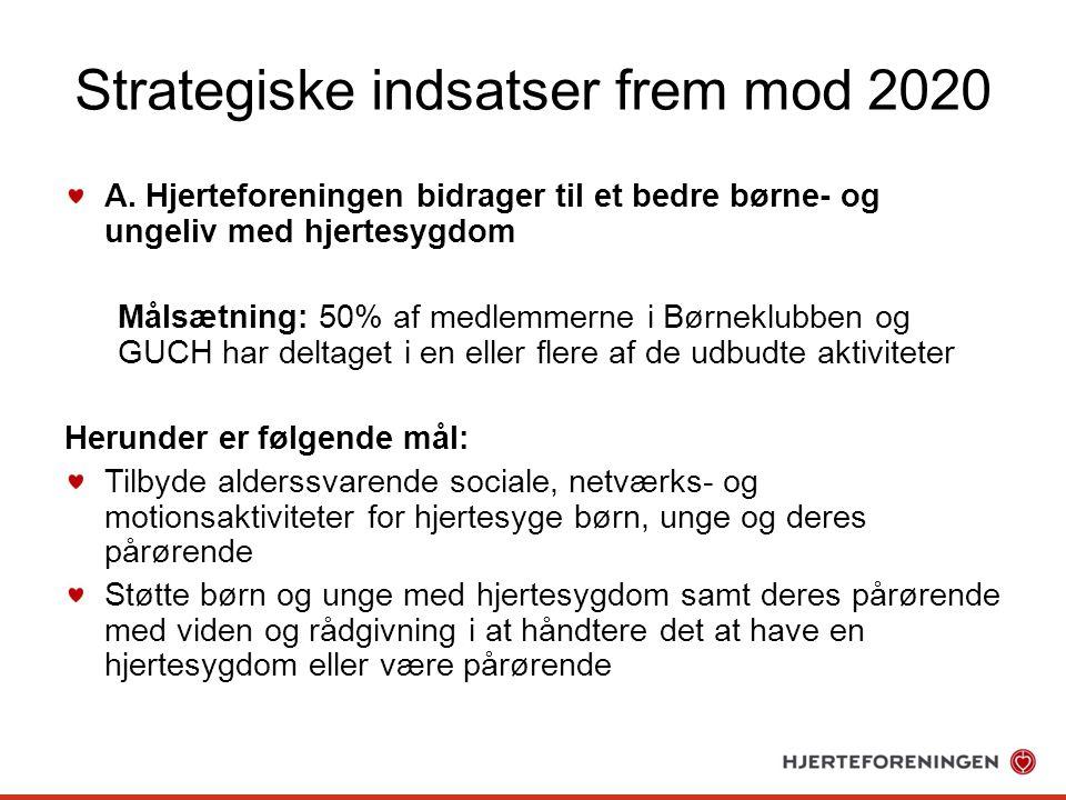 Strategiske indsatser frem mod 2020 A.