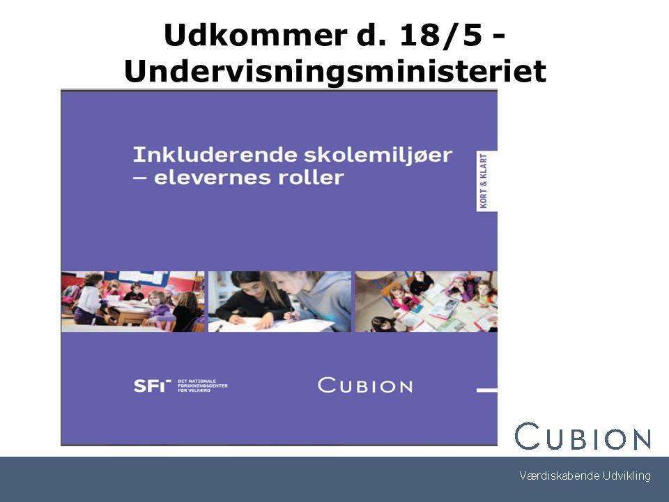 Udkommer d. 18/5 - Undervisningsministeriet