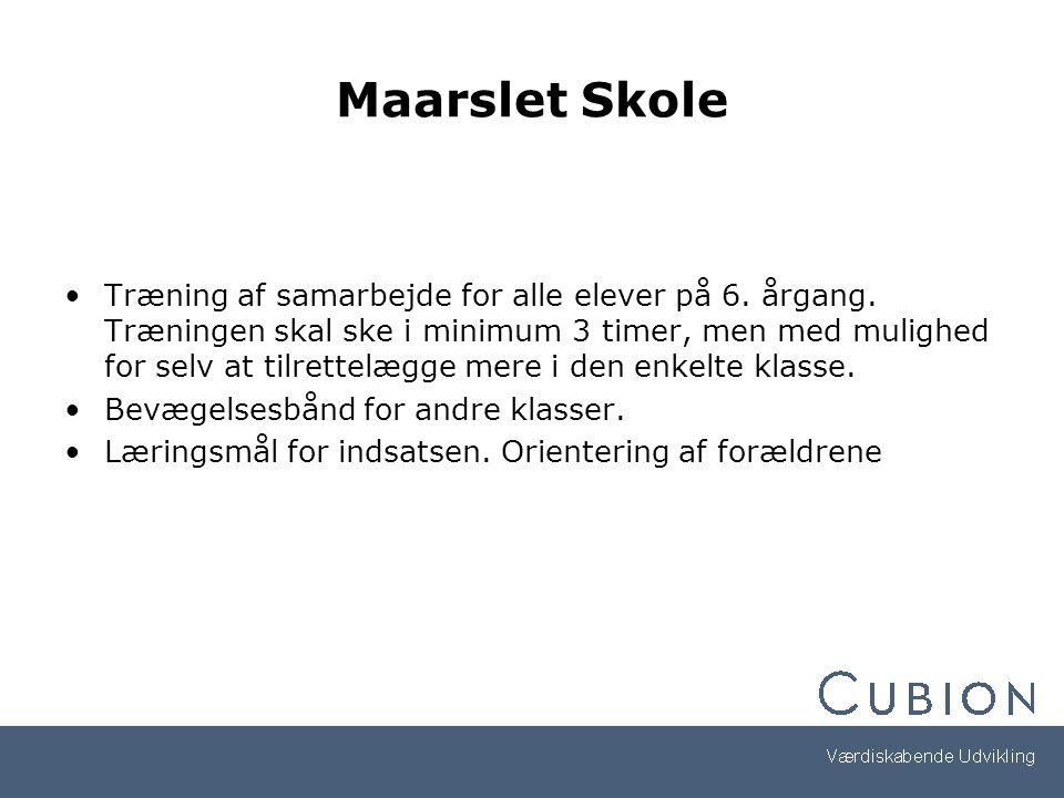 Maarslet Skole Træning af samarbejde for alle elever på 6.