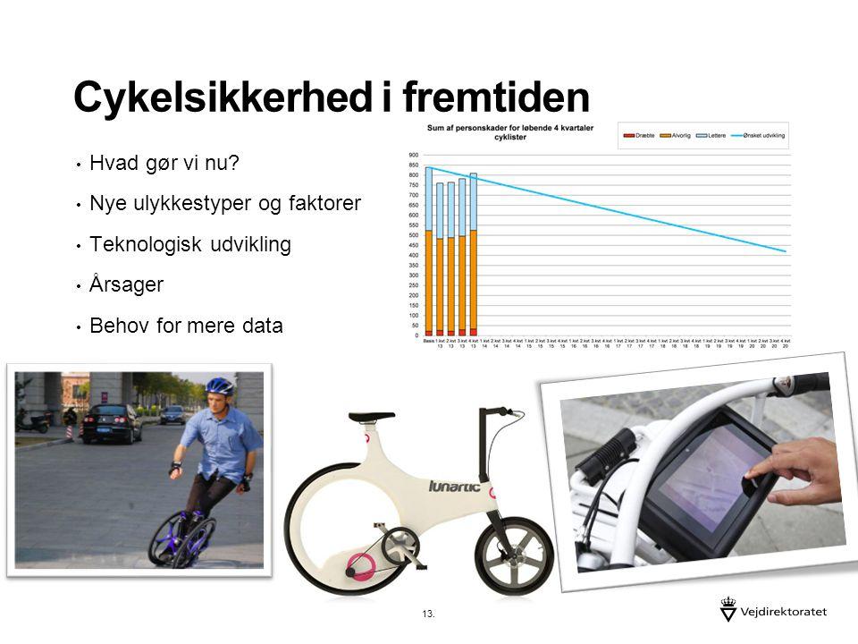 Cykelsikkerhed i fremtiden Hvad gør vi nu.