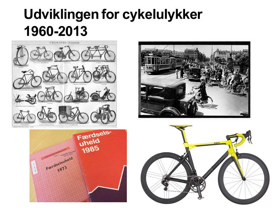 Udviklingen for cykelulykker 1960-2013