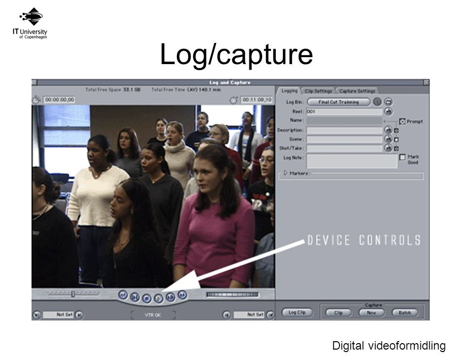 Digital videoformidling Log/capture Auto-naming sikre unikke navne