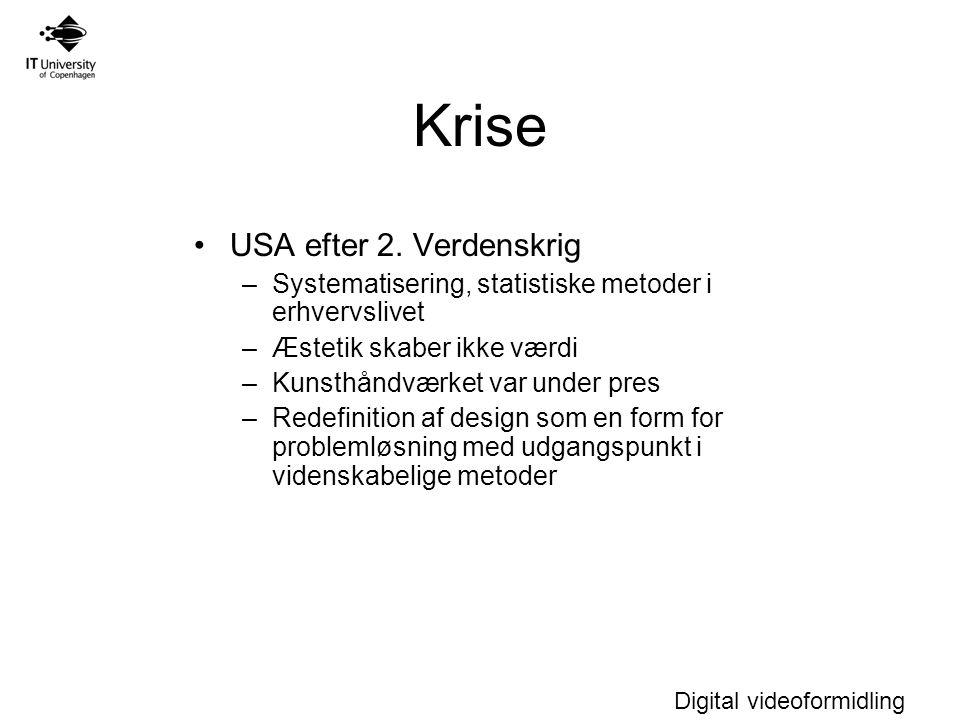 Digital videoformidling Krise USA efter 2.