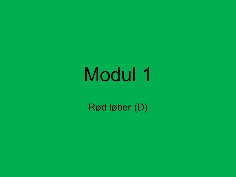Modul 1 Rød løber (D)