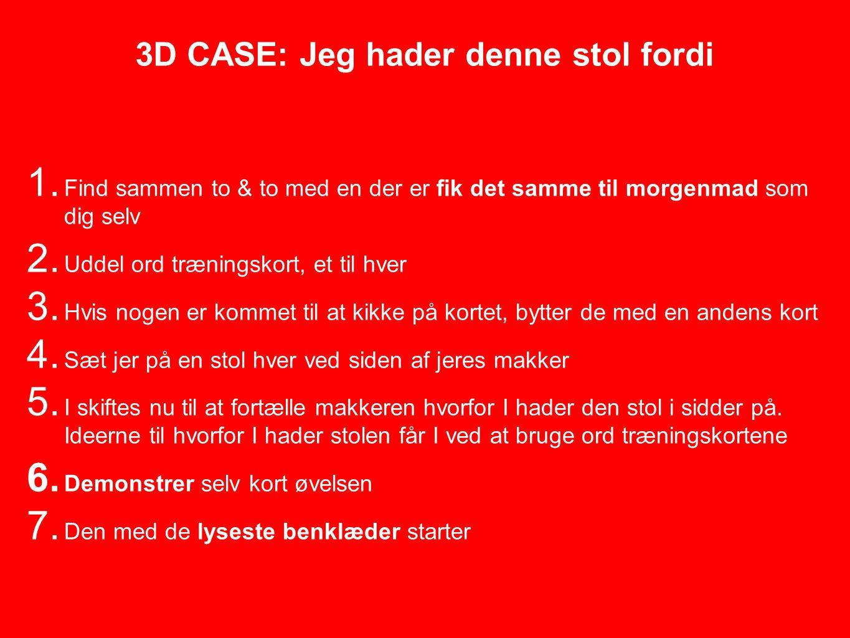 3D CASE: Jeg hader denne stol fordi 1.