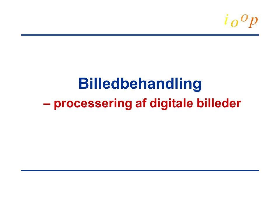 Billedbehandling – processering af digitale billeder