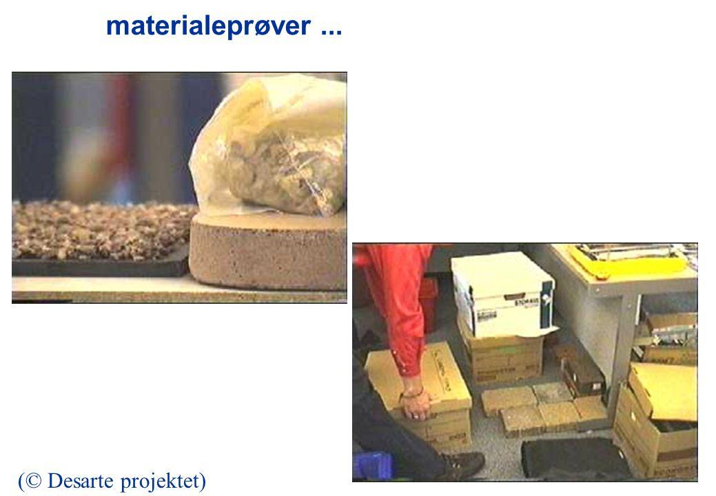 materialeprøver... (© Desarte projektet)