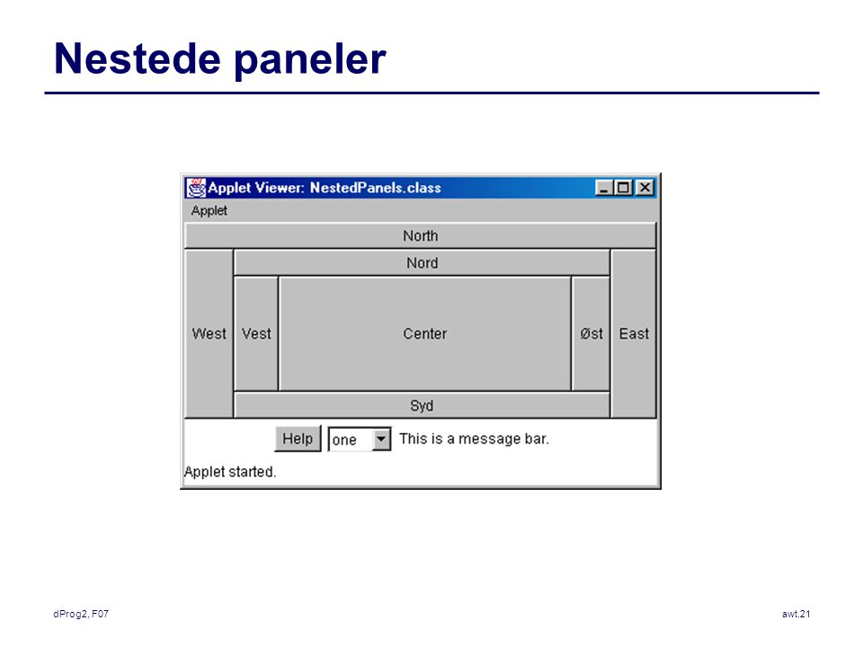 dProg2, F07awt.21 Nestede paneler